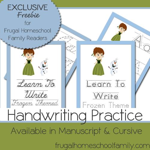 free frozen themed handwriting practice worksheets money saving mom money saving mom. Black Bedroom Furniture Sets. Home Design Ideas