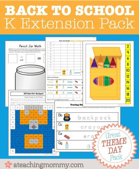 Free printable Kindergarten Extension Printable Pack