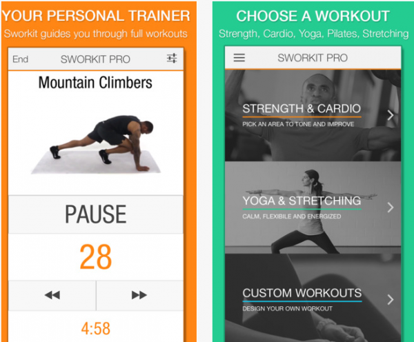 Free Sworkit Pro app download
