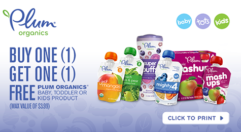 picture regarding Plum Organics Printable Coupon referred to as Acquire A person, Just take One particular No cost Plum Organics coupon + extra printable