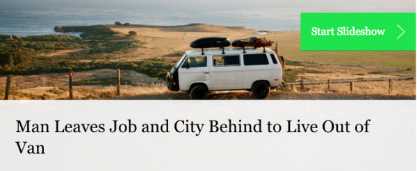 Man Quits Job to Live Out of His Van