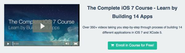 Free how to build iOS apps online course