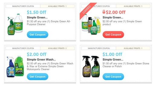 Simple Green cleaner coupons