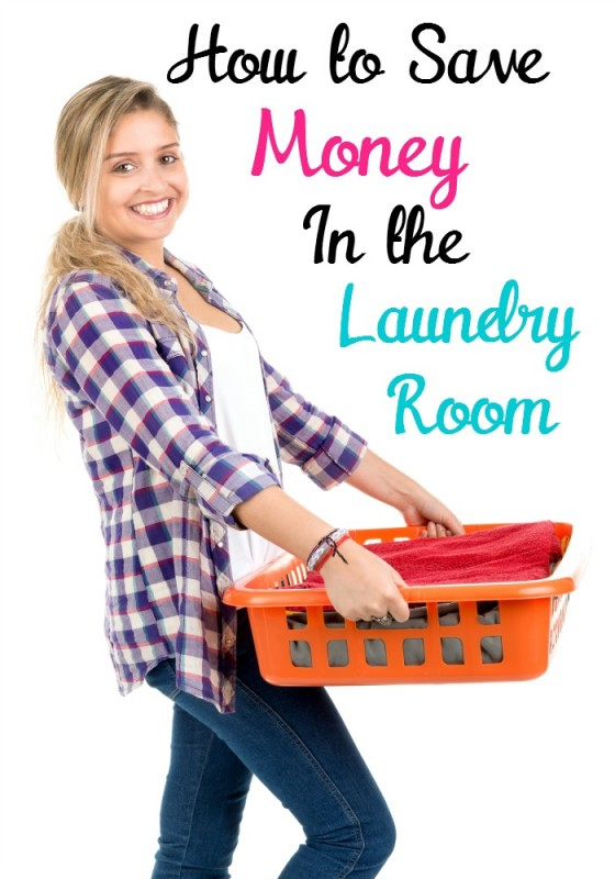 Positive young woman doing the laundry at home