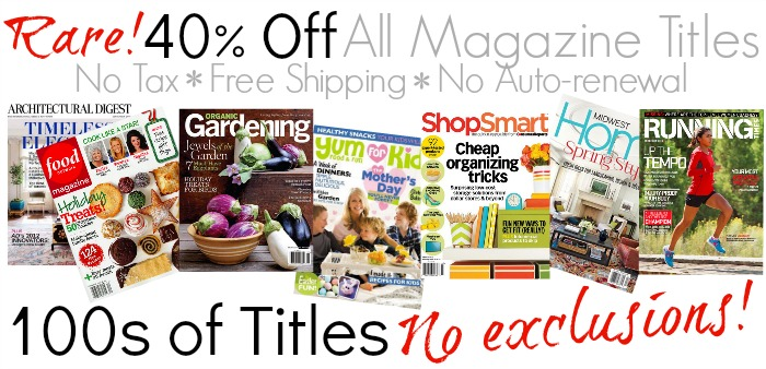 40 Off Magazine Sale MSM
