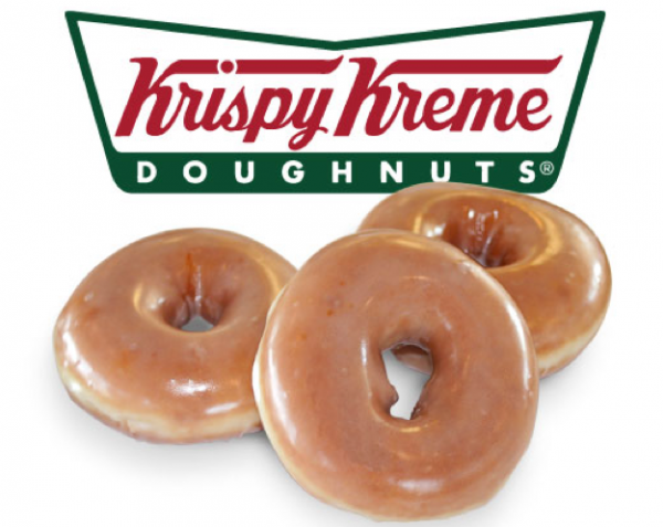 Free doughnuts at Krispy Kreme