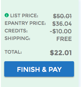 Free $10 credit to ePantry