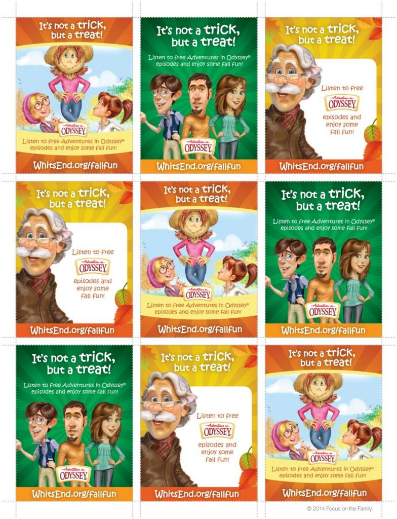 Adventures in Odyssey Fall Fun Cards