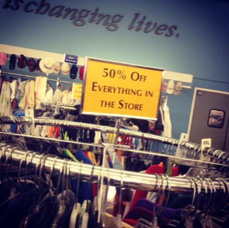 Goodwill 50% off