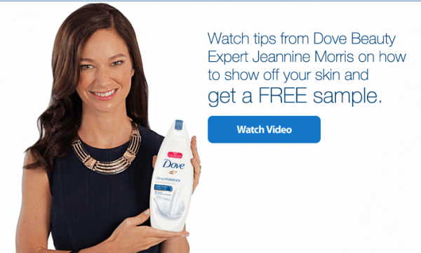 Free sample of Dove Body Wash