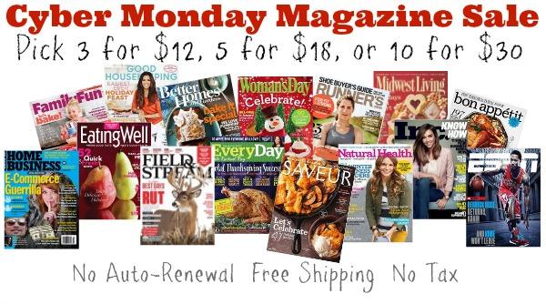 Cyber Monday Magazine Sale