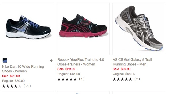 Athletic Shoes as low as $25.49 shipped