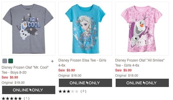 Kohl's Frozen T-shirts