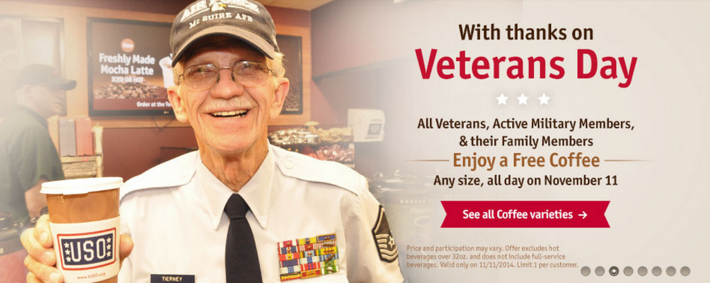 Veterans Day Coffee Members on Veterans Day