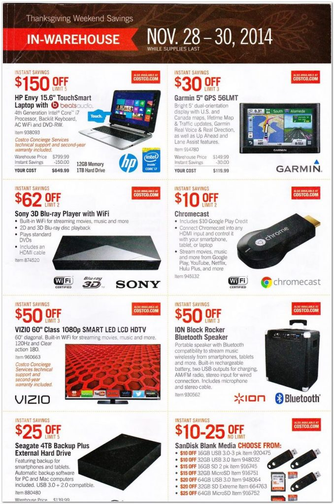 Costco Black Friday Ad 2014