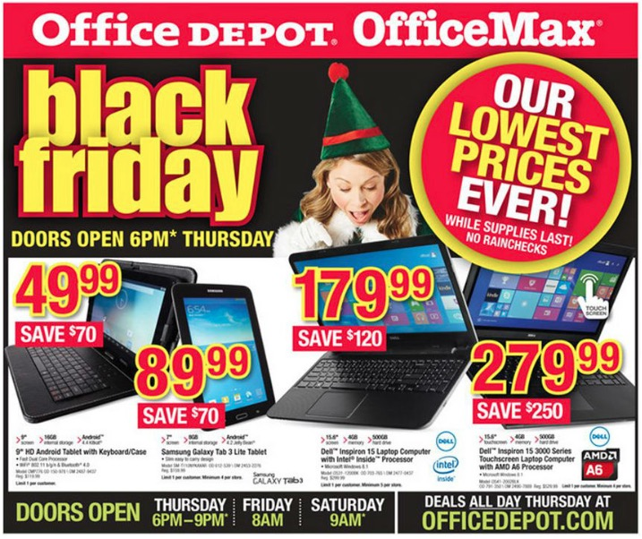 Office Depot/Office Max Black Friday Ad 2014
