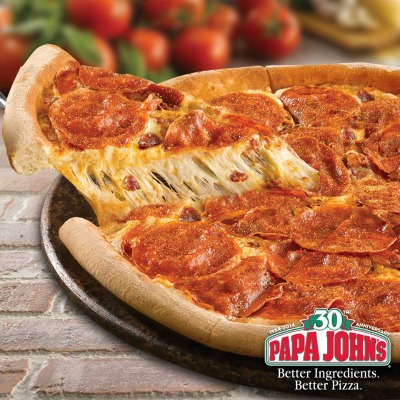 Get 40% off any regular-priced pizza Papa John's right now!