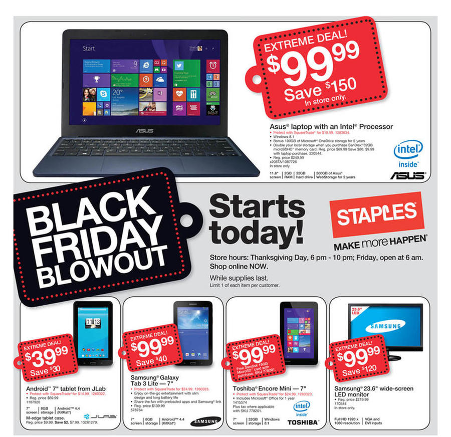 Staples Black Friday Ad 2014