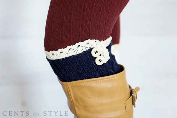 Lace Knit Boot Cuffs