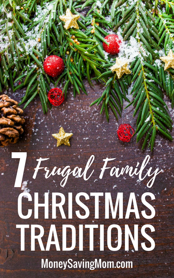 Use these frugal family Christmas traditions as ideas to embrace the Christmas season without breaking your budget!