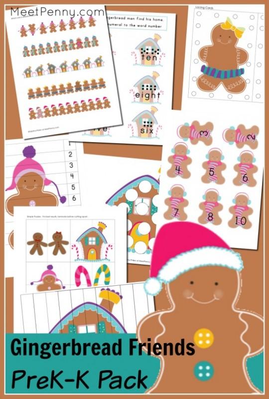 Free Gingerbread Man Pre-K Printable Pack - Money Saving Mom®