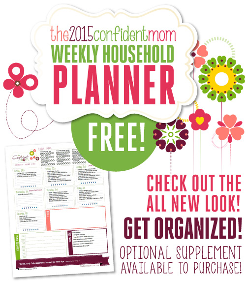 Free Confident Mom Household Planner