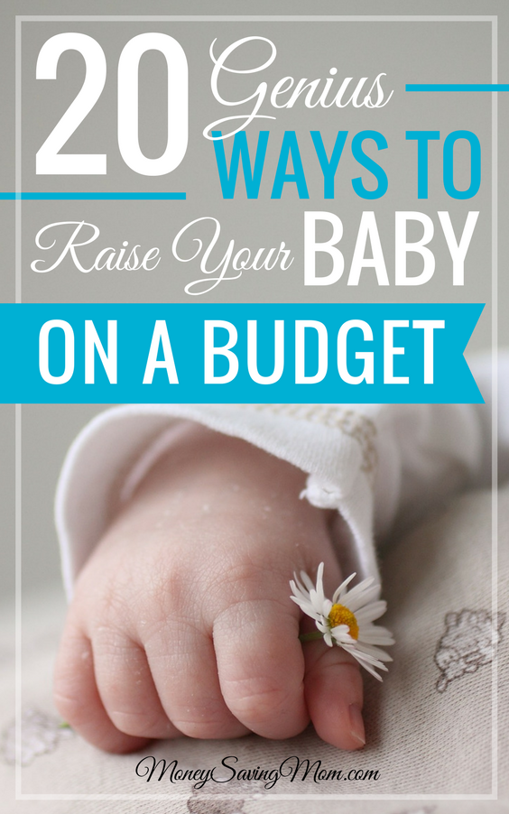 Wondering how to raise a baby on a budget? It's easier than you think! Check out this helpful list of 20 ways to save -- even with growing babies in the house!