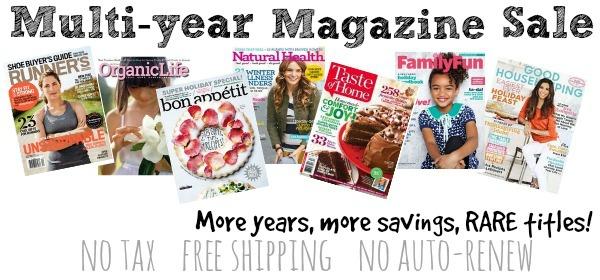 Multi-Year-Magazine Sale