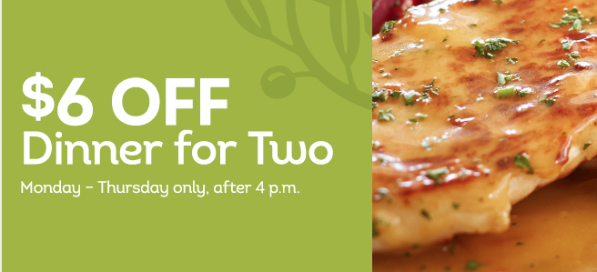 Olive Garden coupon: $6 off 2 dinner entrees - Money Saving Mom ...
