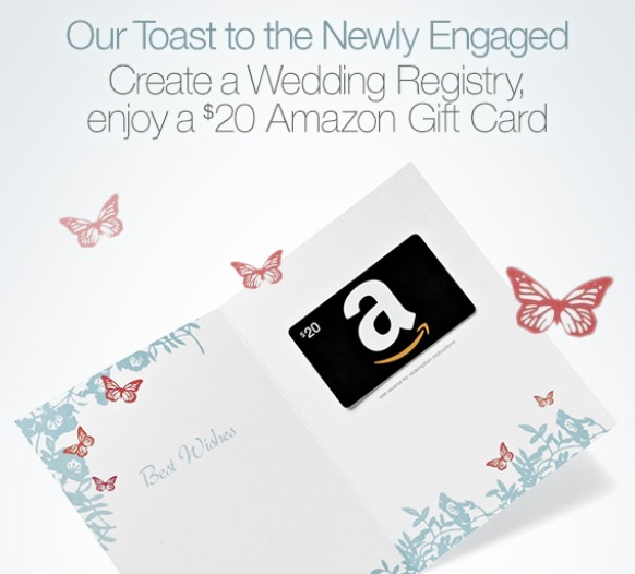 Amazoncom Get a free 20 gift card when you create a new wedding