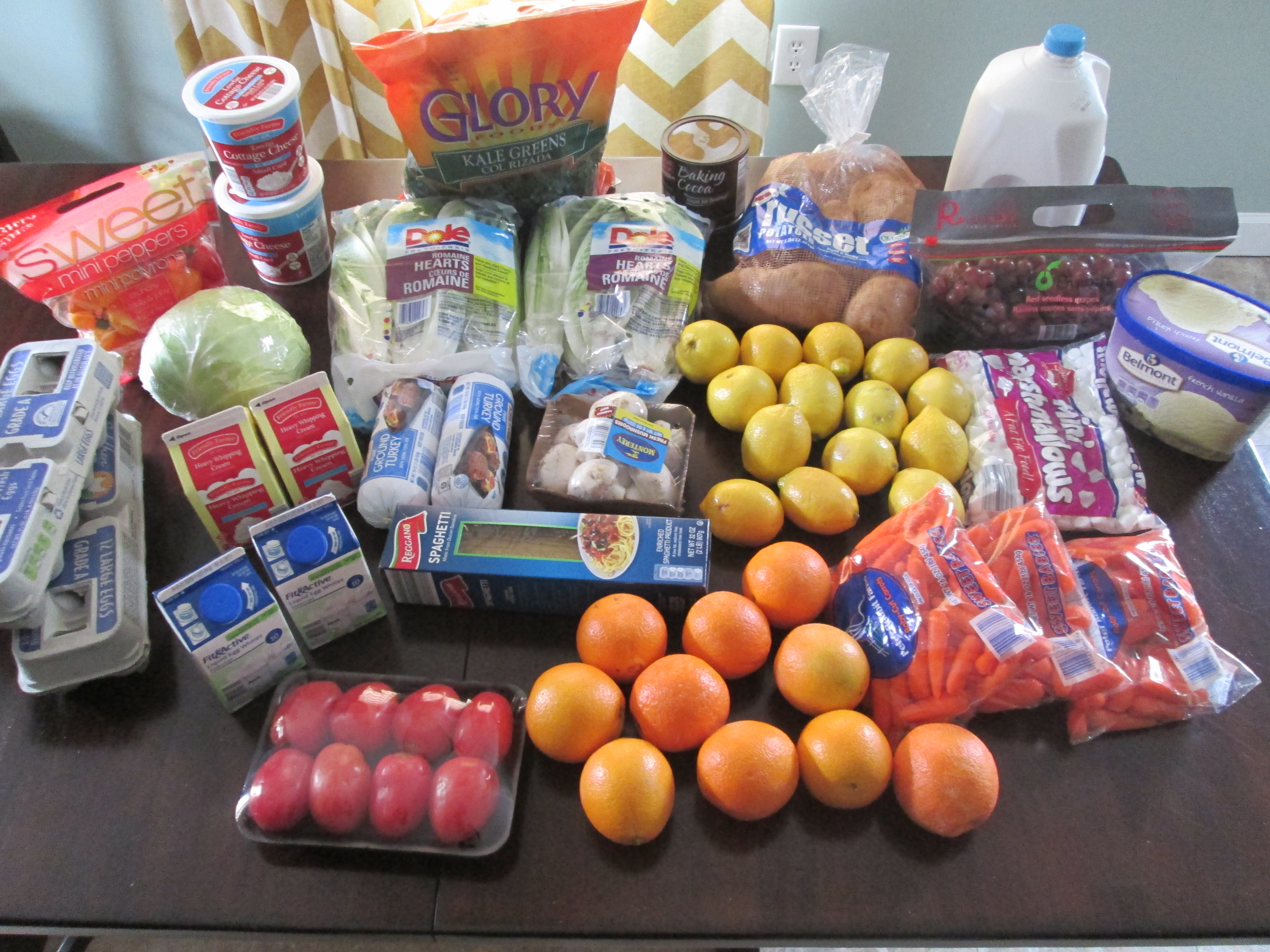 Brigette's $65 Grocery Shopping Trip and Weekly Menu Plan for 6