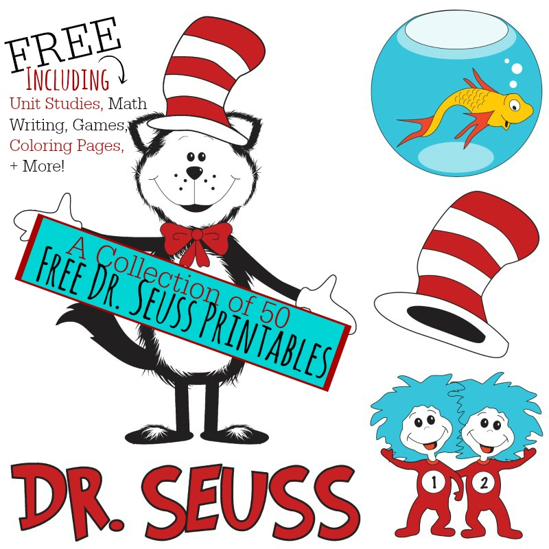 50 Free Dr. Seuss Printables (Math, Writing, Games, & more!) - Money ...