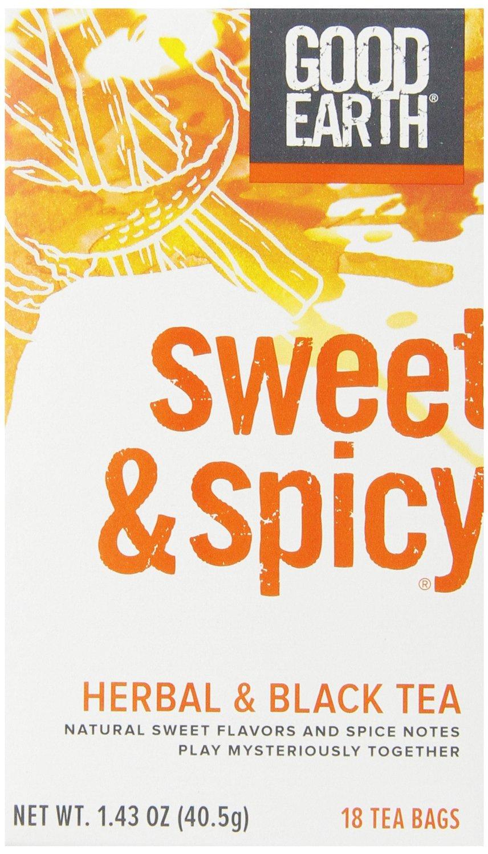 Good Earth Sweet & Spicy Herbal & Black Tea, 18 Count Tea Bags (Pack of 6) Deal