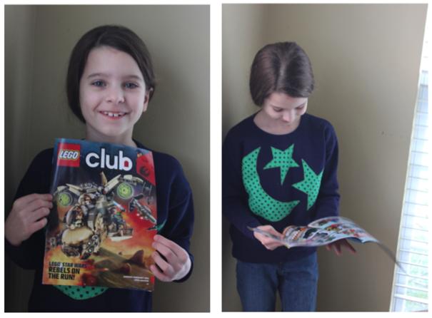 Kid Holding LEGO Magazine