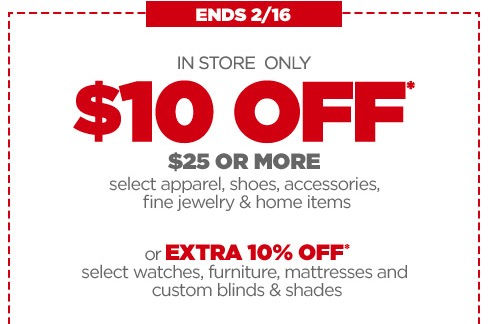 Jcpenney Coupon 10 Off 25 Purchase In Store Money Saving Mom