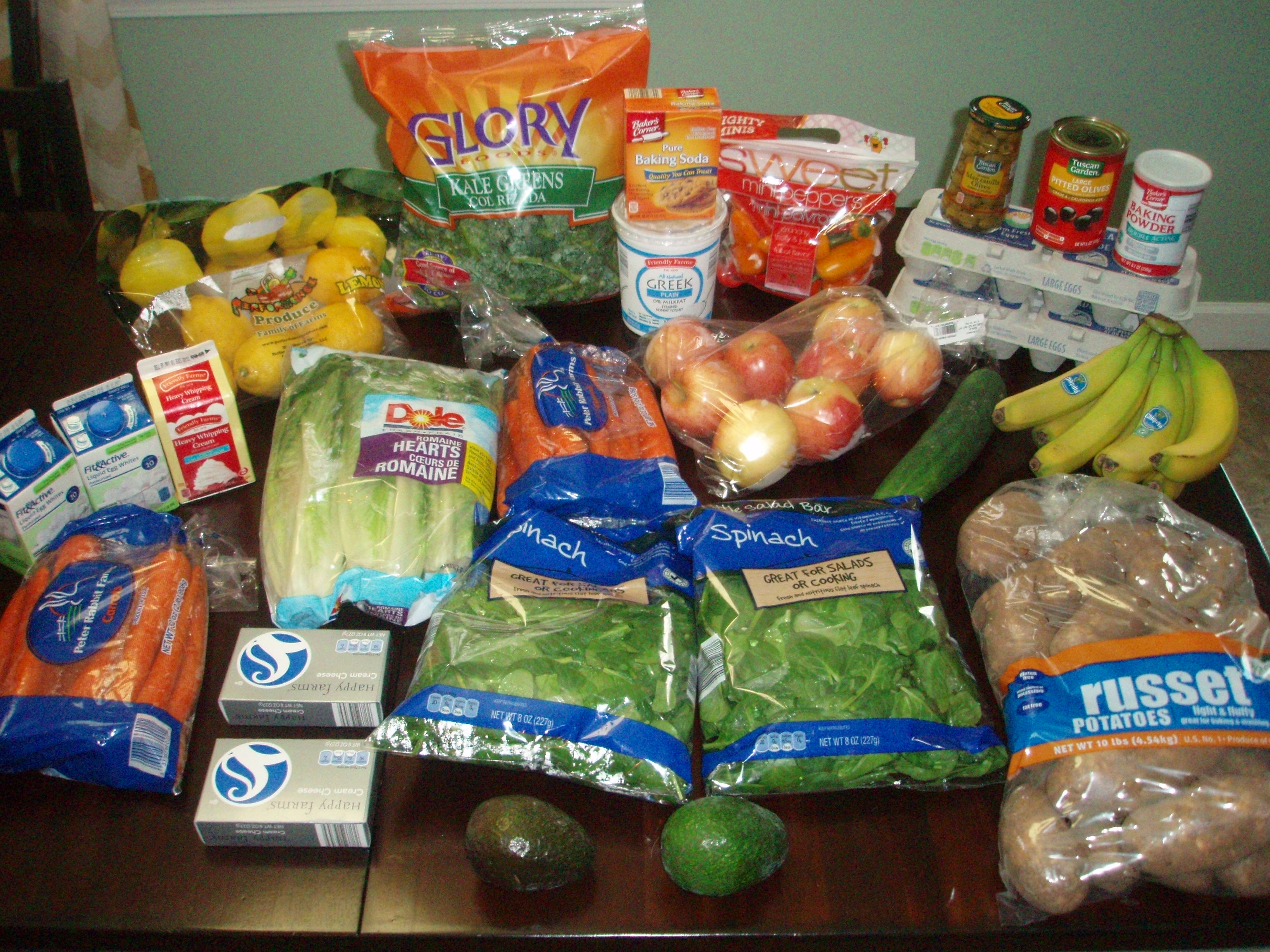 Brigette's $57 Grocery Shopping Trip + Weekly Menu Plan for 6