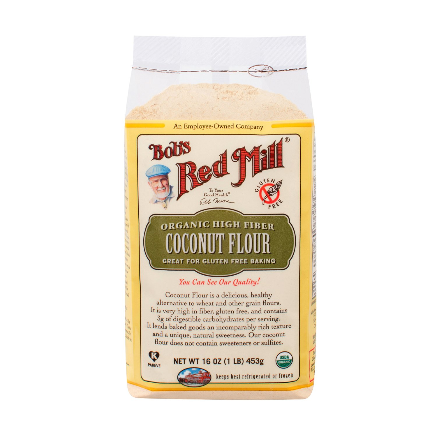 Bob's Red Mill Organic Coconut Flour, 16-Ounce Units (Pack of 4) Deal