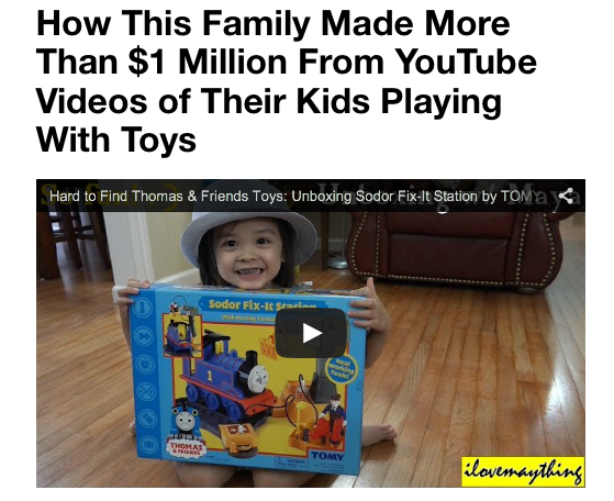 How One Family Has Made $1 Million from YouTube