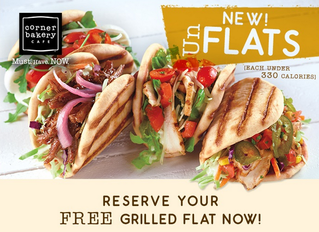 Free Grilled Flat at The Corner Bakery