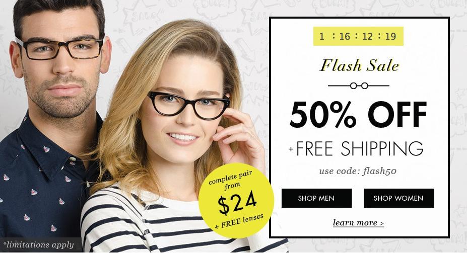 77e40c2c412 Glasses USA  50% off + free shipping (ends tomorrow!) - Money Saving ...
