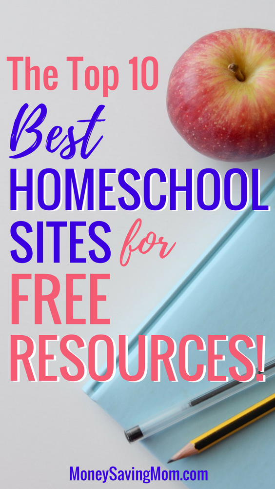 If you homeschool, you don't want to miss this helpful list of the BEST 10 places for FREE homeschooling resources!