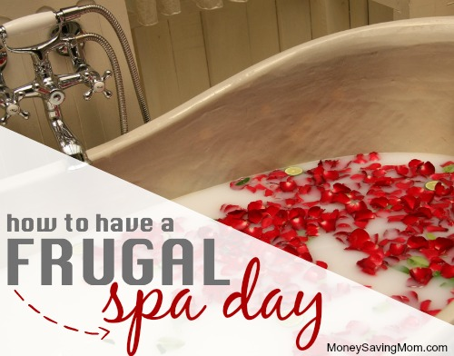 frugal spa day