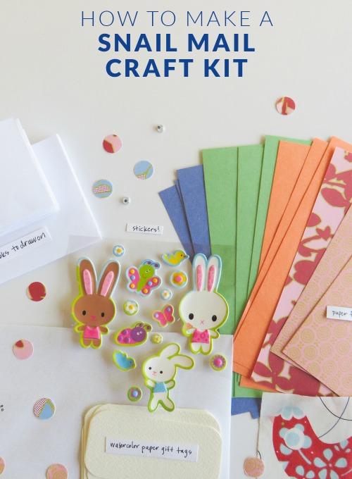 snail mail craft kit