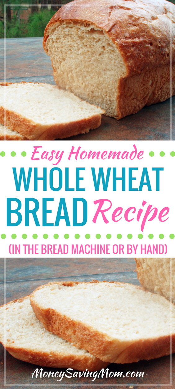 If you love homemade bread fresh from the oven, you HAVE to try this go-to bread recipe! It is healthy, super easy, and can be thrown together in less than five minutes if you use a bread machine.