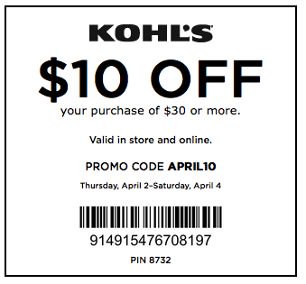 30 off kohls coupon