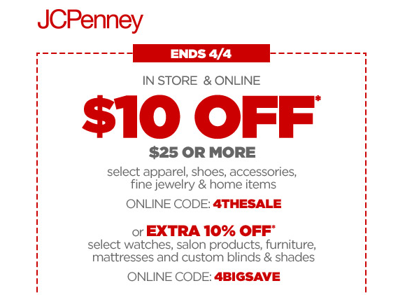 Jcpenney coupon 10 off 25 purchase money saving mom jcpenney coupon fandeluxe Choice Image