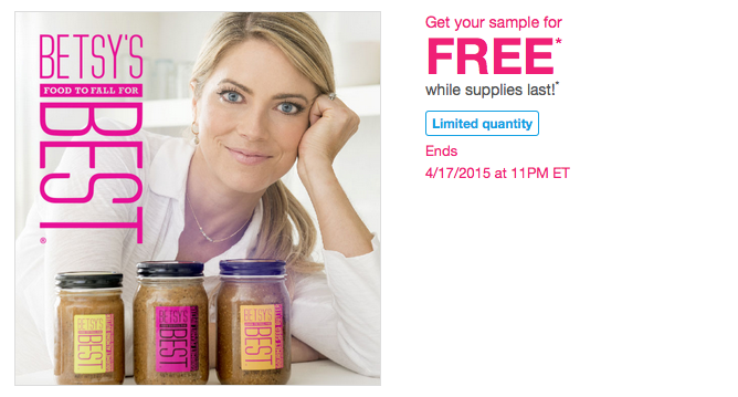 Free sample of Betsy's Nut and Seed Butter