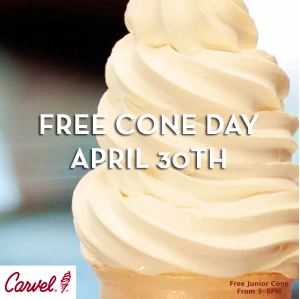 Carvel will once again be celebrating the start of the ice cream season with their annual Free Cone Day event on Thursday, April 27, If you're interested in taking advantage of the offer, simply.