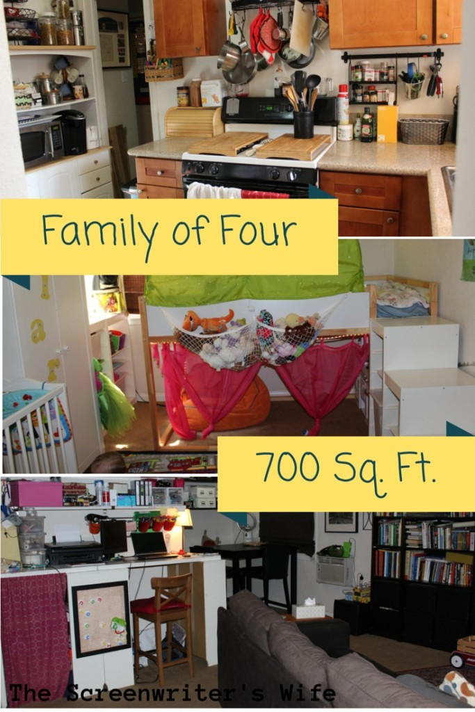 How a family of 4 happily lives in 700 sq ft home for 700 square feet house
