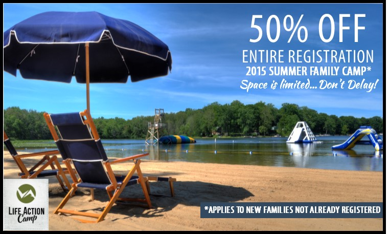 Get 50% off your registration to Family Camp!